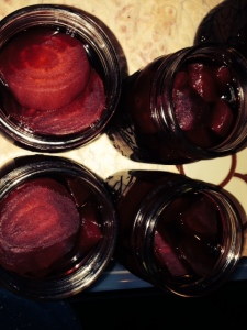 beets in jars