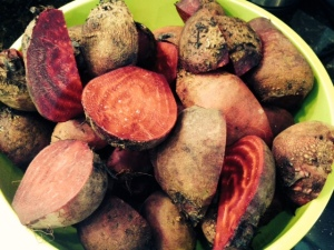 cooked whole beets
