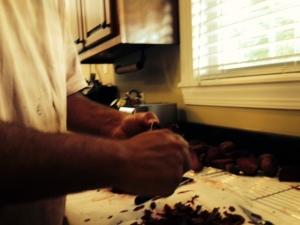 Matt peeling beets
