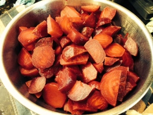 peeled and sliced beets
