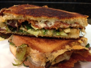 bacon brussel sprouts grilled cheese 4