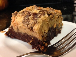 ultimate butterfinger brownie