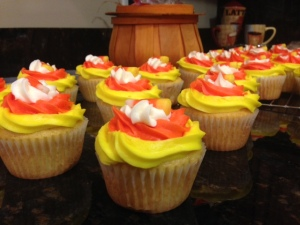 candy corn cupcakes for school party