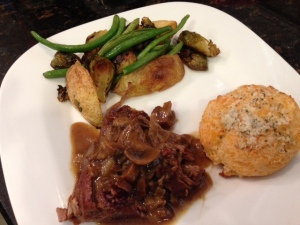 Braised Brisket with Mushrooms